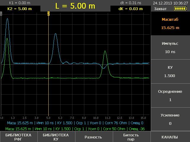 Рефлектометр РИ-307М3: установка параметров зондирования