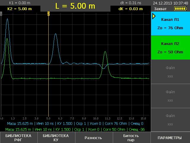Рефлектометр РИ-307М3: одновременное зондирование двух каналов